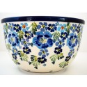 Polish Pottery TRUE BLUES 14-Cup Stoneware Mixing Bowl | ARTISAN