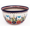Polish Pottery BUTTERFLY MERRY MAKING 14-Cup Stoneware Mixing Bowl | UNIKAT
