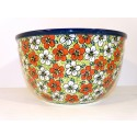 "Polish Pottery 10"" RED BACOPA Mixing Bowl 