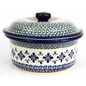 Polish Pottery SWEETIE PIE 1-Liter Stoneware Covered Casserole Baker | ARTISAN
