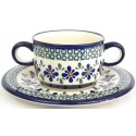 Pottery Avenue Soup Cup & Sacuer combo from BOLESLAWIEC