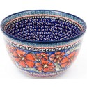 "Polish Pottery 8"" CHERISHED FRIENDS Mixing Bowl 
