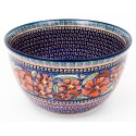 Polish Pottery CHERISHED FRIENDS 14-Cup Stoneware Mixing Bowl | UNIKAT