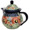 Polish Pottery CHAMPAGNE Personal 10-oz Stoneware Teapot | UNIKAT