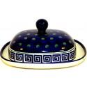 Polish Pottery ATLANTIS 2-Piece Stoneware Butter Dish | CLASSIC