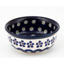 Polish Pottery FLOWERING PEACOCK Small Stoneware Bowl | CLASSIC