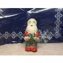 Polish Pottery SWEETIE PIE Santa Claus Stoneware Figurine | ARTISAN