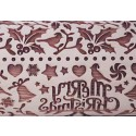 """10"""" Embossing Rolling Pin HOLIDAY HOLLY"""