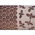 """10"""" Embossing Rolling Pin HONEY BEES"""