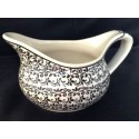 Polish Pottery ELEGANT TIMES 2-Cup Stoneware Gravy Boat | CLASSIC
