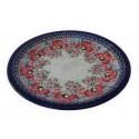 "Polish Pottery CHAMPAGNE 11"" Stoneware Dinner Plate | UNIKAT"
