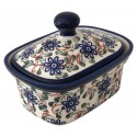 Polish Pottery RIVERBANK 2-Cup Stoneware Butter Box | CLASSIC