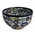 "Polish Pottery TRUE BLUES 4.5"" Rice Stoneware Bowl 