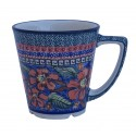 Polish Pottery CHERISHED FRIENDS 13-oz Latte Stoneware Mug | UNIKAT