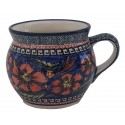 Polish Pottery CHERISHED FRIENDS 16-oz Stoneware Bubble Mug | UNIKAT