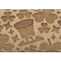 "4.5"" Embossing Rolling Pin St. Patrick's Day"