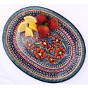 "Polish Pottery CHERISHED FRIENDS 11.5"" Oval Stoneware Platter 