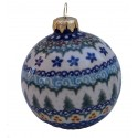 Polish Pottery Vena WINTER MAGIC Christmas Round Stoneware Ornament | UNIKAT