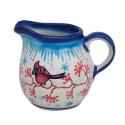 Polish Pottery CARDINAL 6-oz Stoneware Creamer  UNIKAT