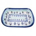Polish Pottery CLASSIC SNOWMAN Stoneware Flared Dish | CLASSIC