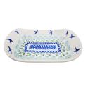Polish Pottery SOARING Stoneware Flared Dish | CLASSIC