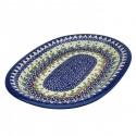 "Polish Pottery Vena JOANN 11"" Oval Stoneware Platter | UNIKAT"