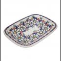 Polish Pottery REJUVENATE 10-inch Stoneware Rectangular Platter | A-UNIKAT