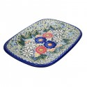 Polish Pottery EXOTIC Stoneware Rectangular Platter (LG)   A-UNIKAT