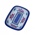 Polish Pottery FOLK UNIKAT Stoneware Rectangular Platter (MD) | A-UNIKAT