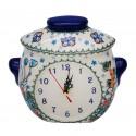 Polish Pottery ADORABLE Stoneware Kubus Clock | A-UNIKAT
