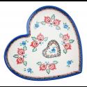 Polish Pottery FOLK UNIKAT Stoneware Heart Plate (LG) | A-UNIKAT