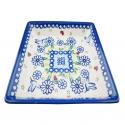 Polsh Pottery WINSOME Helena Stoneware Square Plate | UNIKAT