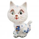 Polish Pottery ADORABLE Stoneware Cat Figurine | A-UNIKAT