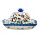 Polish Pottery ADORABLE Stoneware Butter Dish (SM) | A-UNIKAT
