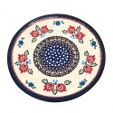 Polish Pottery FOLK UNIKAT 10-inch Stoneware Dinner Plate | A-UNIKAT