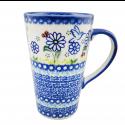 Polish Pottery WINSOME Stoneware Latte Mug | UNIKAT