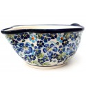 Polish Pottery TRUE BLUES Stoneware Batter Bowl | ARTISAN