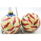 Pottery Avenue Vena Red Hot Christmas Round Stoneware Ornament