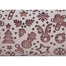 """Pottery Avenue and Wooden Corner brings you these wonderful 4.5"""" embossing rolling pins - SEP-035 HOLIDAY CONFETTI"""