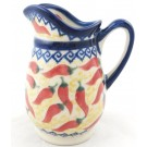 "Pottery Avenue Vena Red Hot 4"" Stoneware Pitcher (SM)"