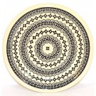 "Pottery Avenue Black Diamond 9.75"" Stoneware Plate"