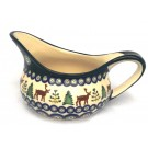 Polish Pottery 2 Cup CARIBOU LODGE Gravy Boat | CLASSIC