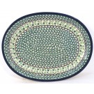 "Polish Pottery 11.5"" IVY Oval Plate 