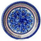 "Pottery Avenue 11"" Stoneware Dinner Plate -1014-148AR Blue Pansy"