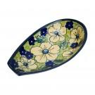 "Pottery Avenue 5"" Stoneware Spoon Rest - 1015-346AR Blue Citrine"