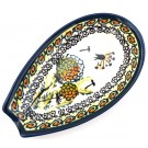"Polish Pottery 5"" WISHFUL Spoon Rest 