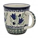Pottery Avenue 12oz Stoneware Coffee Mug - 1105-160AR Blue Tulip