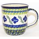 Pottery Avenue 12oz Stoneware Coffee Mug - 1105-DU156 Floral Royal