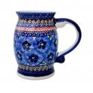 Pottery Avenue Stoneware Mug-Stein - 1106-148AR Blue Pansy