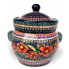 Pottery Avenue 7.6-cup Stoneware Canister - 1125-150AR Cherished Friends